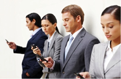 Over 80% of employees use smart phones for work related activities.  Image Credit: Beth Keller
