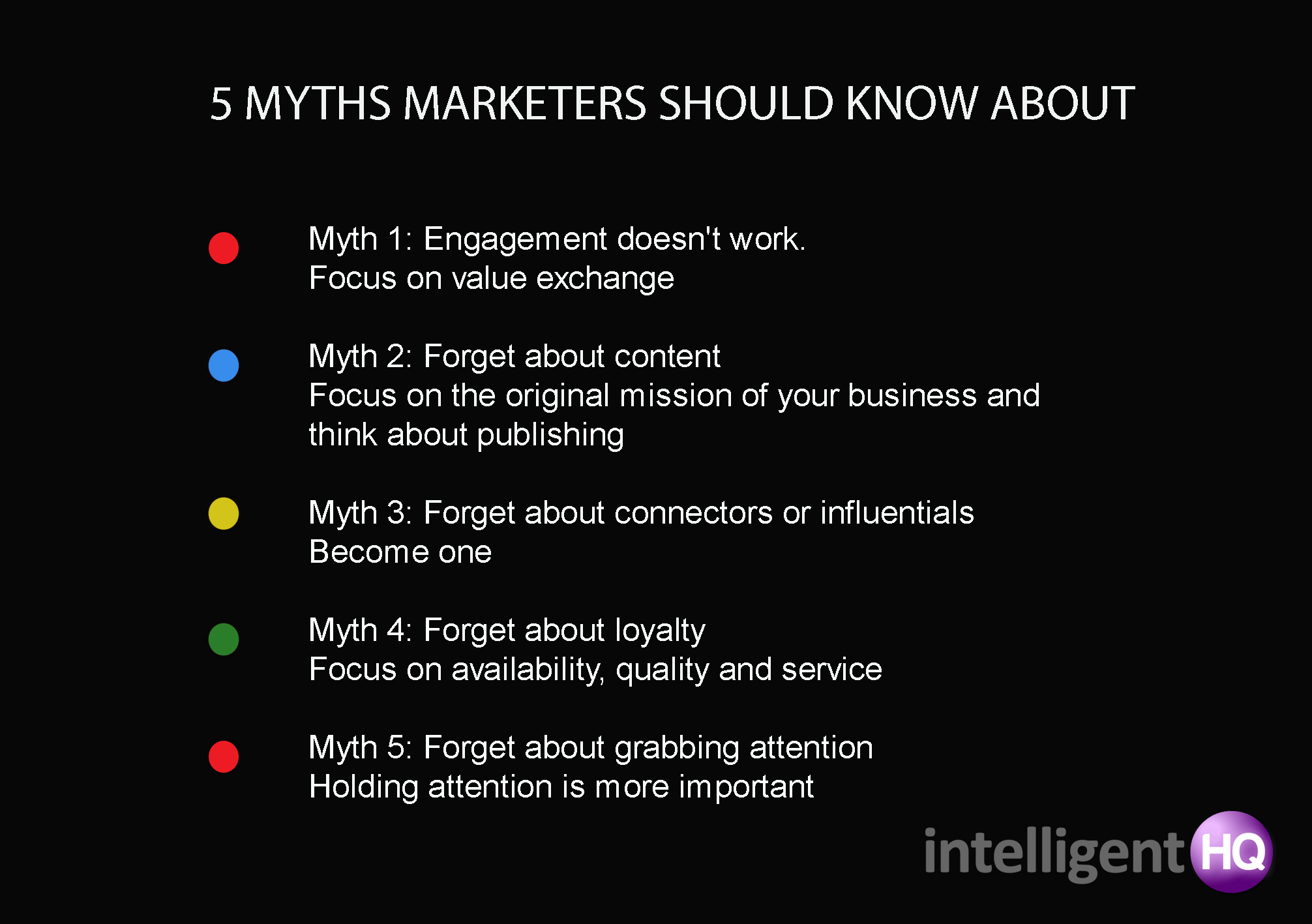 5 Myths Marketers Should Know About Intelligenthq