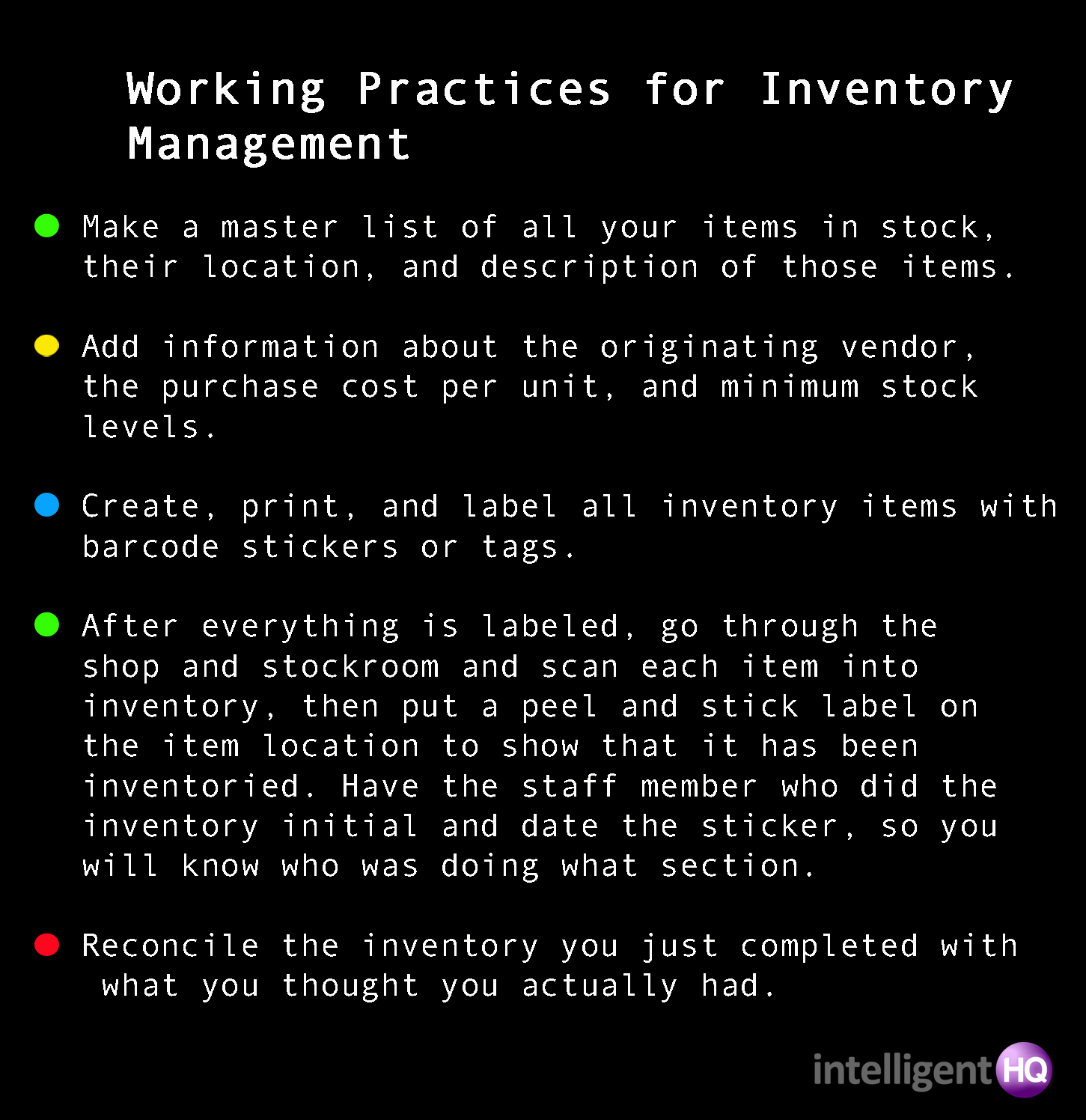 5 Tips For Inventory Management Intelligenthq