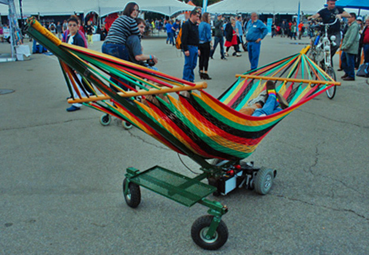 Motorized hammoc at NYC makers fair 2012