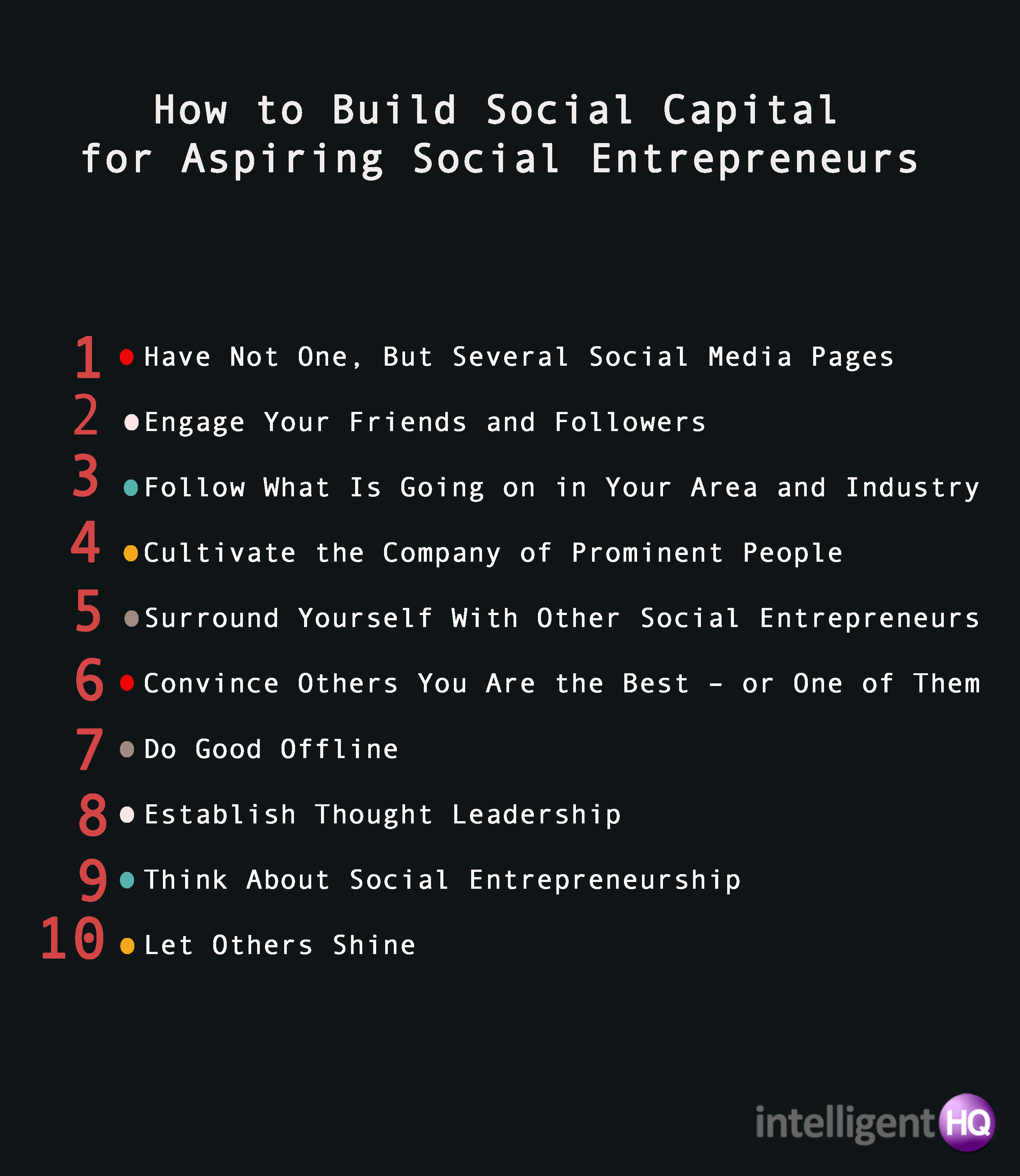 10 ways to build social capital Intelligenthq