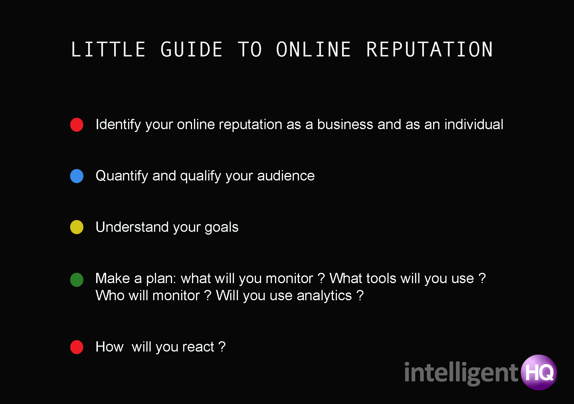 Infographic little guide to online reputation