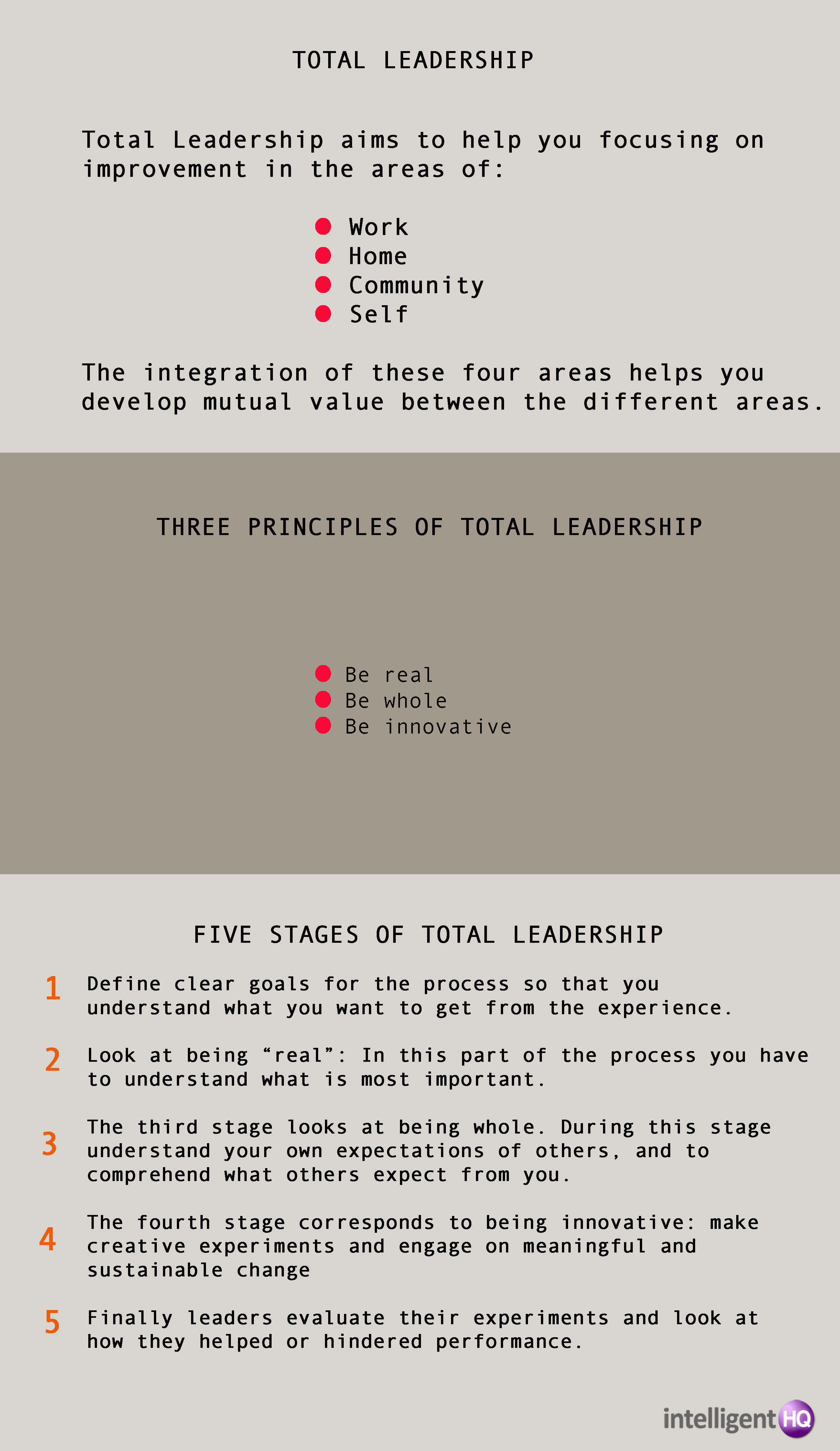 Total leadership:  infographic done by Maria Fonseca for Intelligenthq