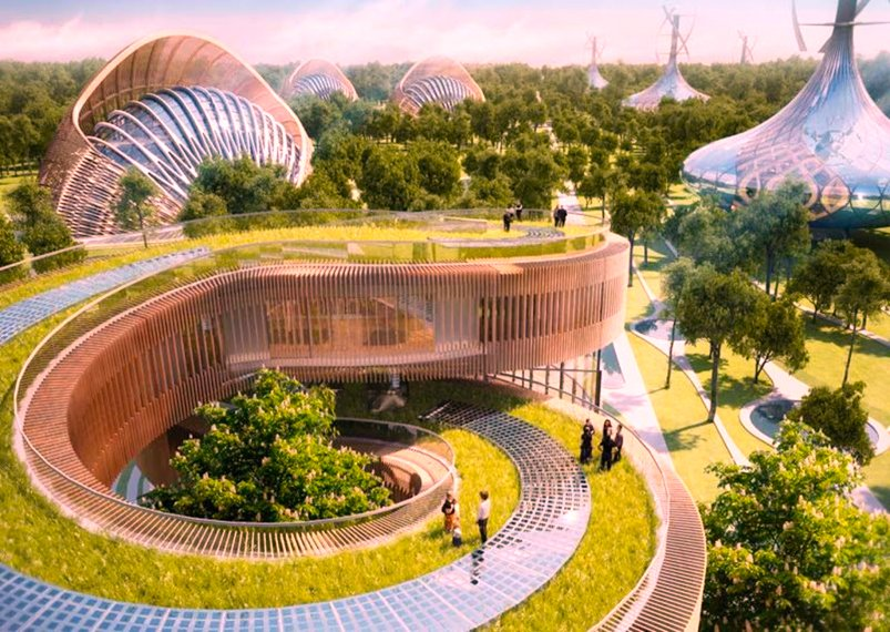 Flavours Orchard, a project to a green city in China, done  by Vincent Callebaut Architecture Image source - http://aasarchitecture.com/
