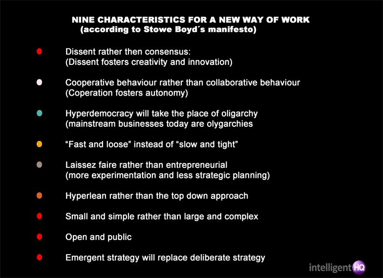 Nine characteristics for a new way of work Intelligenthq