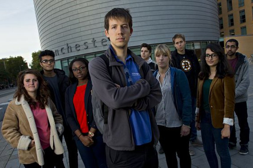Students from the Post-Crash Economics Society pictured at Manchester University