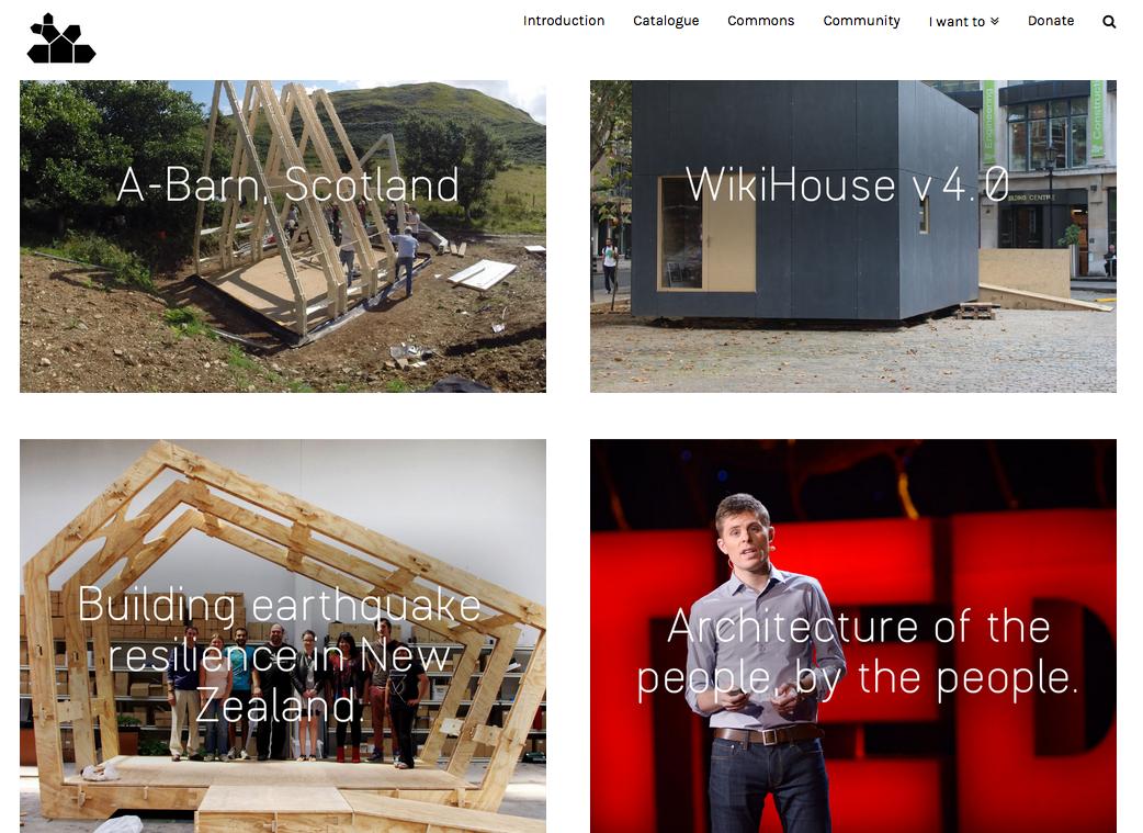 Screenshot of site Wikihouse