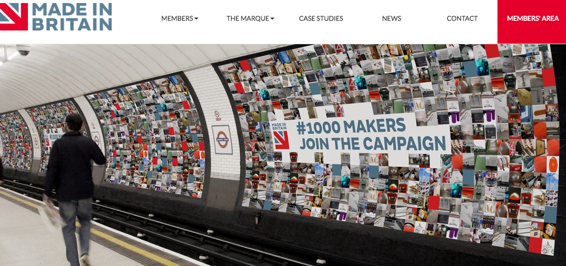 "Screenshot of website: ""Made in Britain"""