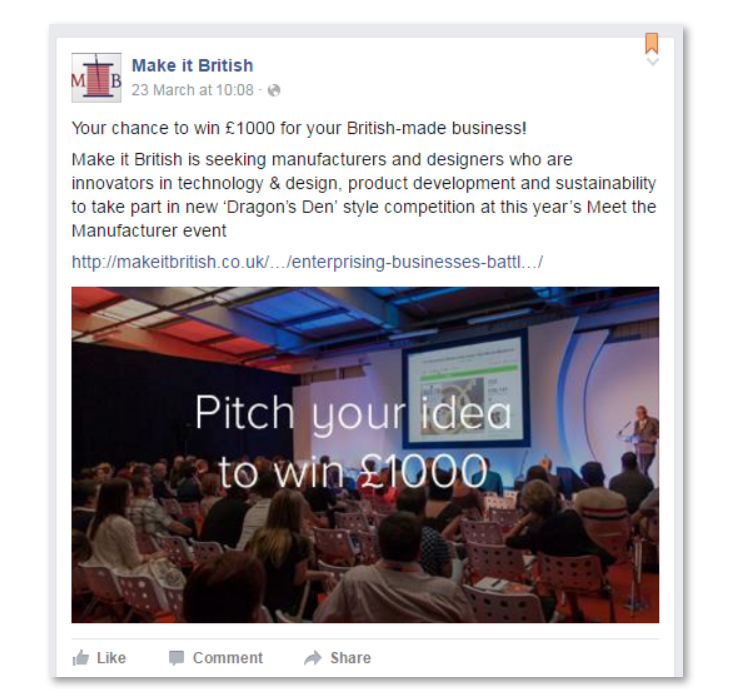"""Campaign launched by """"Make it British"""""""