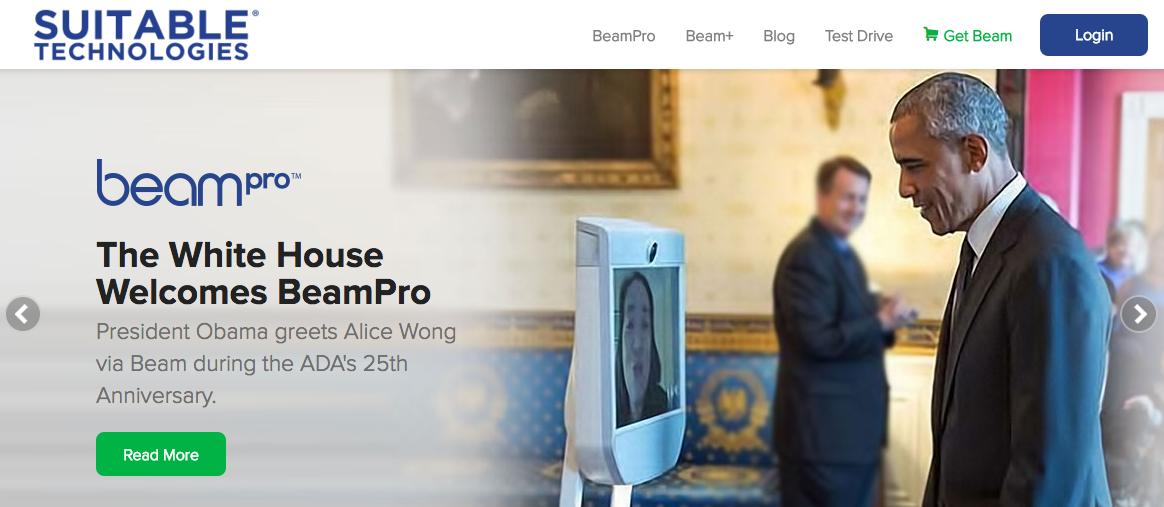 Screenshot of website Suitable Technologies