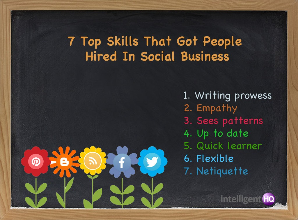 7 Top skills that got people hired in social business