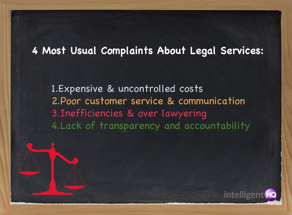 Four Usual Complaints About Legal Services. Intelligenthq