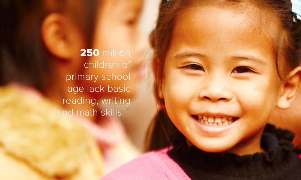 """Screenshot of website of NGO """"Pencils of Promise"""""""