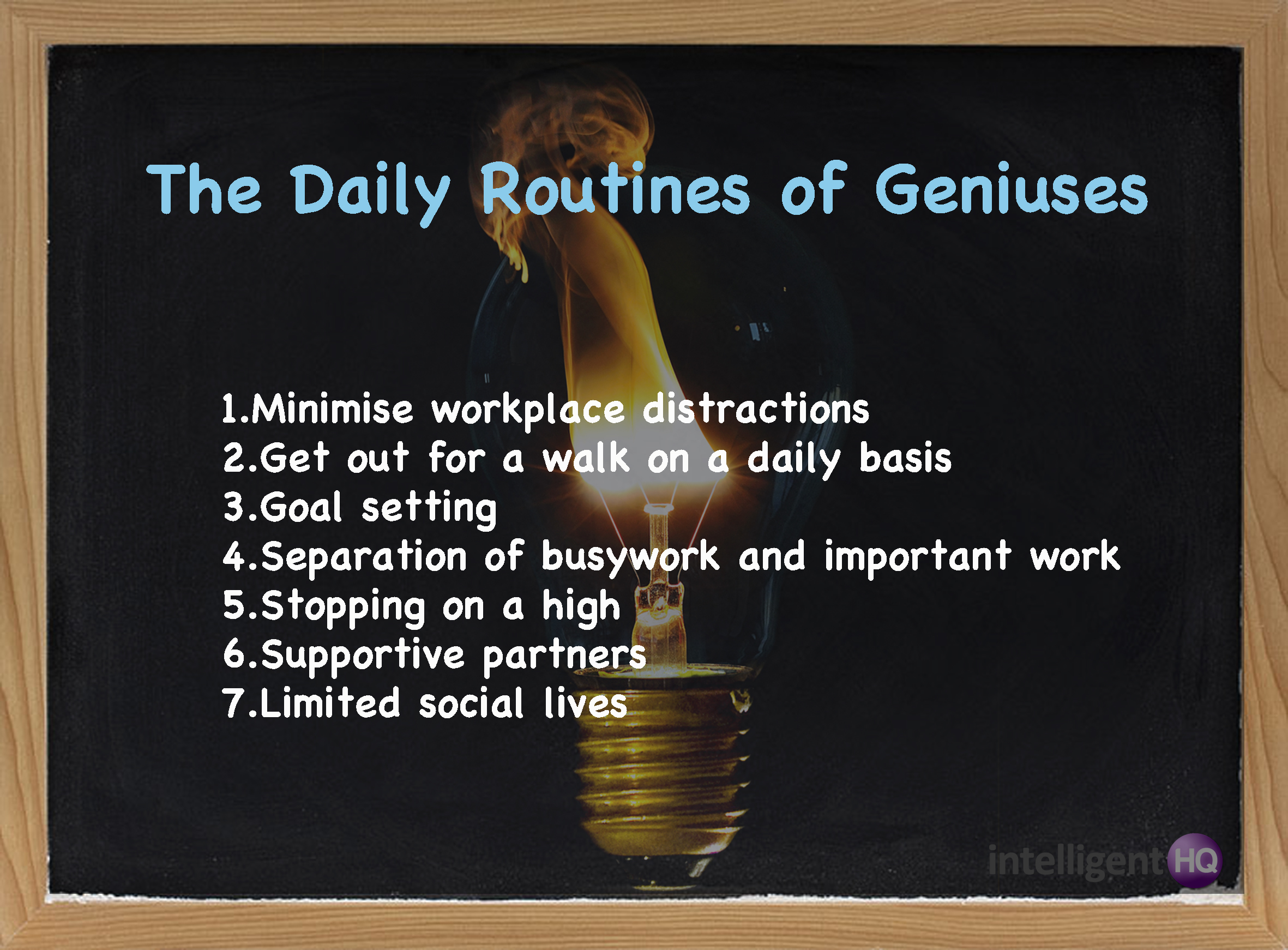 The daily routines of geniuses: 7 traits