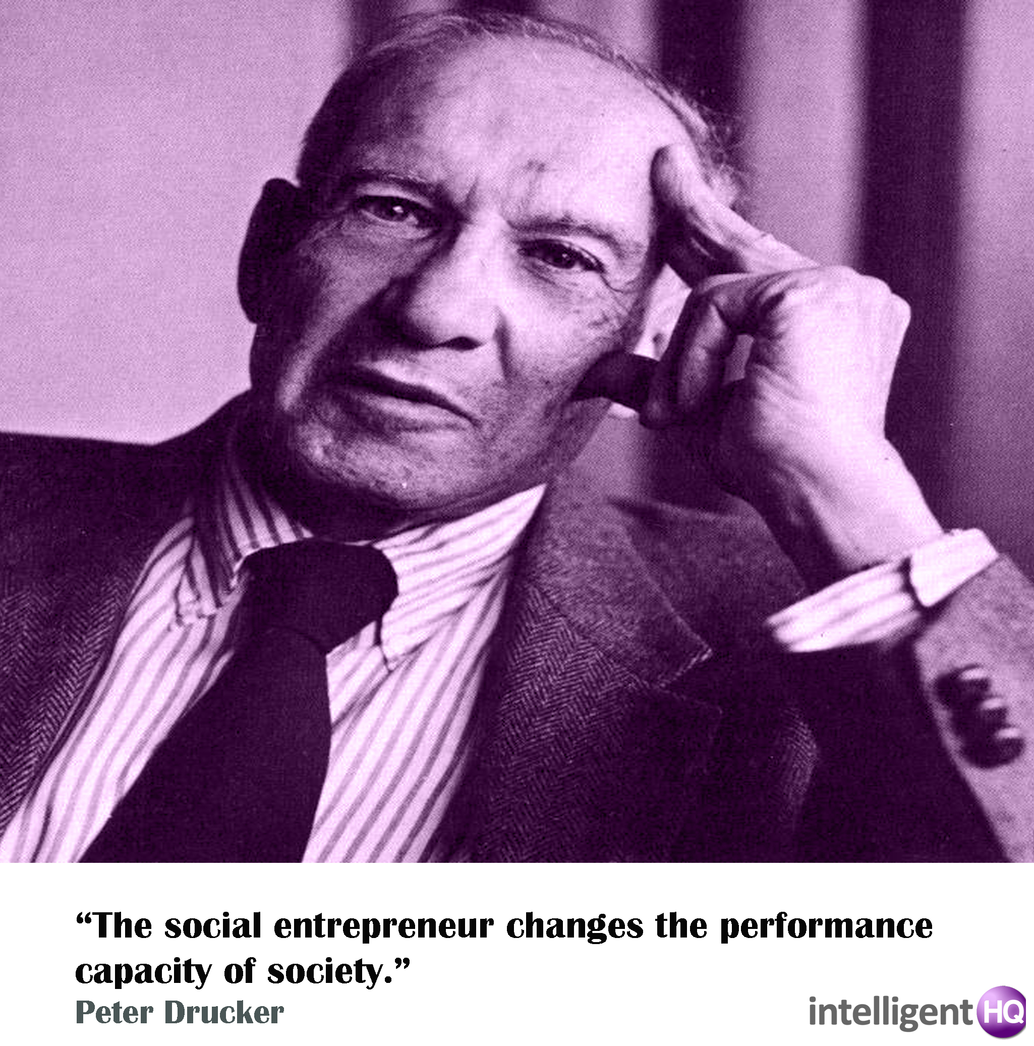 Quote by Peter Drucker. Intelligenthq