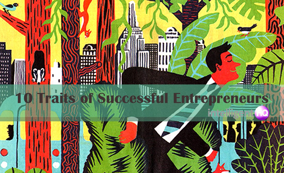 10 Traits of Successful Entrepreneurs. Illustration by Golden Cosmos