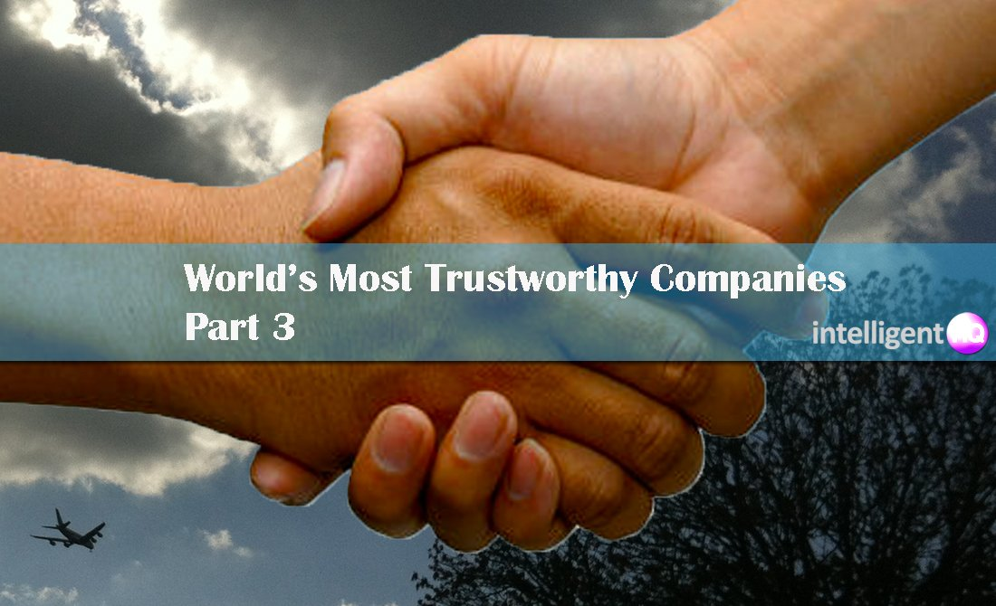 World's 100 Most Trustworthy Companies Part 3. Intelligenthq