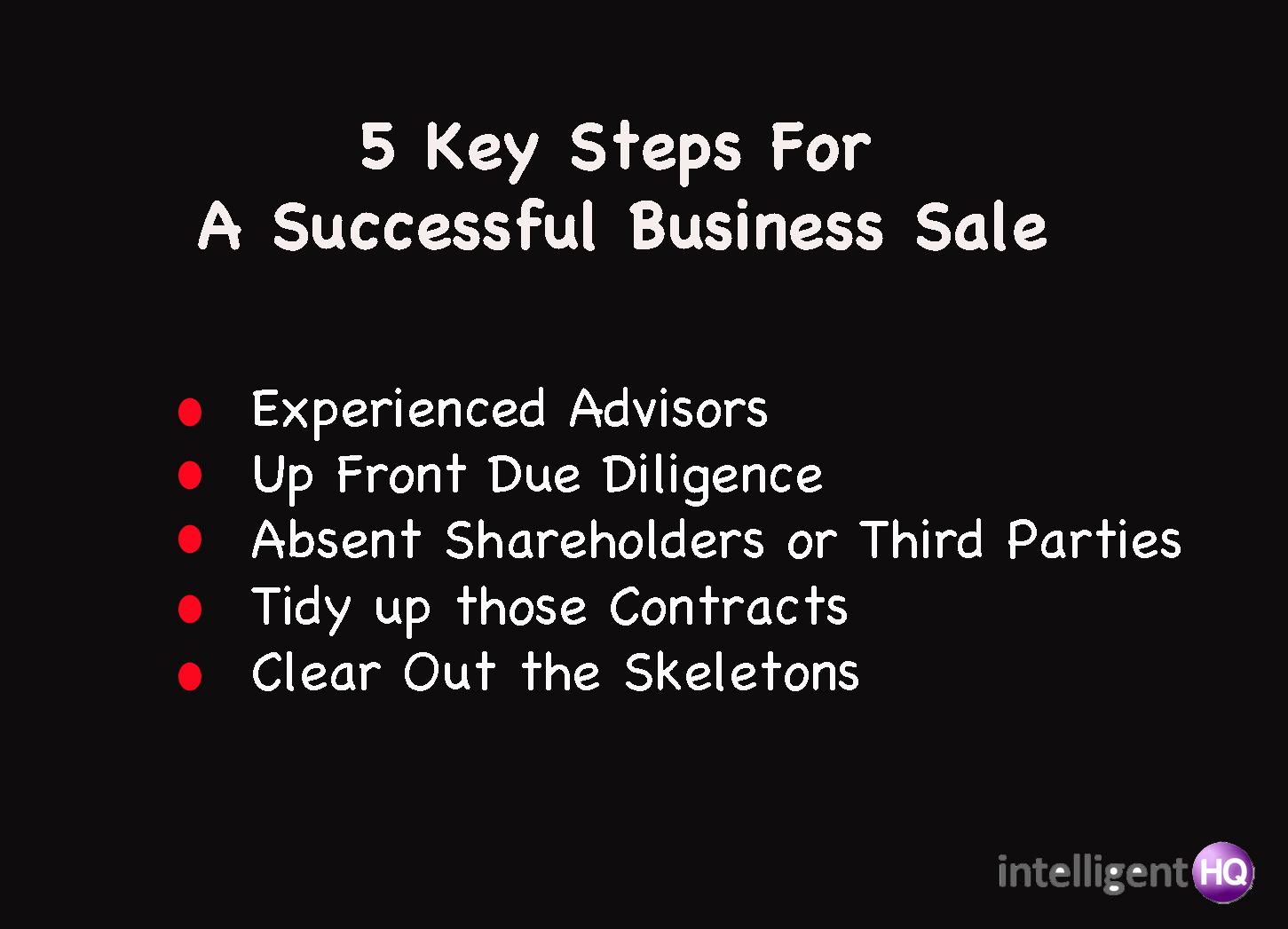 5 key steps for business sale Intelligenthq