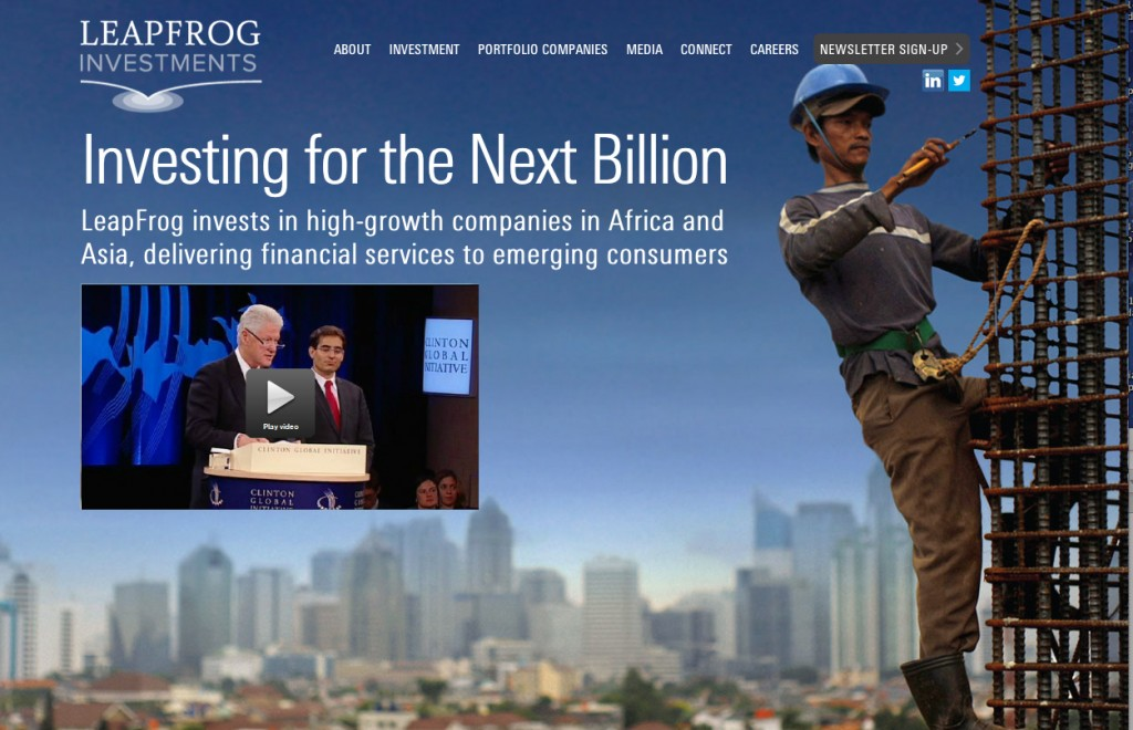 screenshot of website Leapfrog Intelligenthq