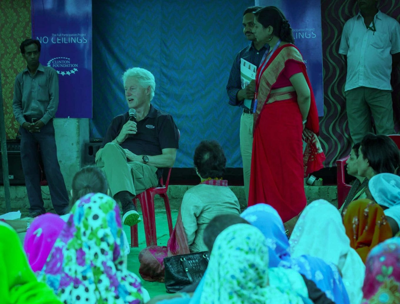 Bill Clinton talking at the fifth conversation of event: No Celeings Image source: Clinton Foundation Intelligenthq