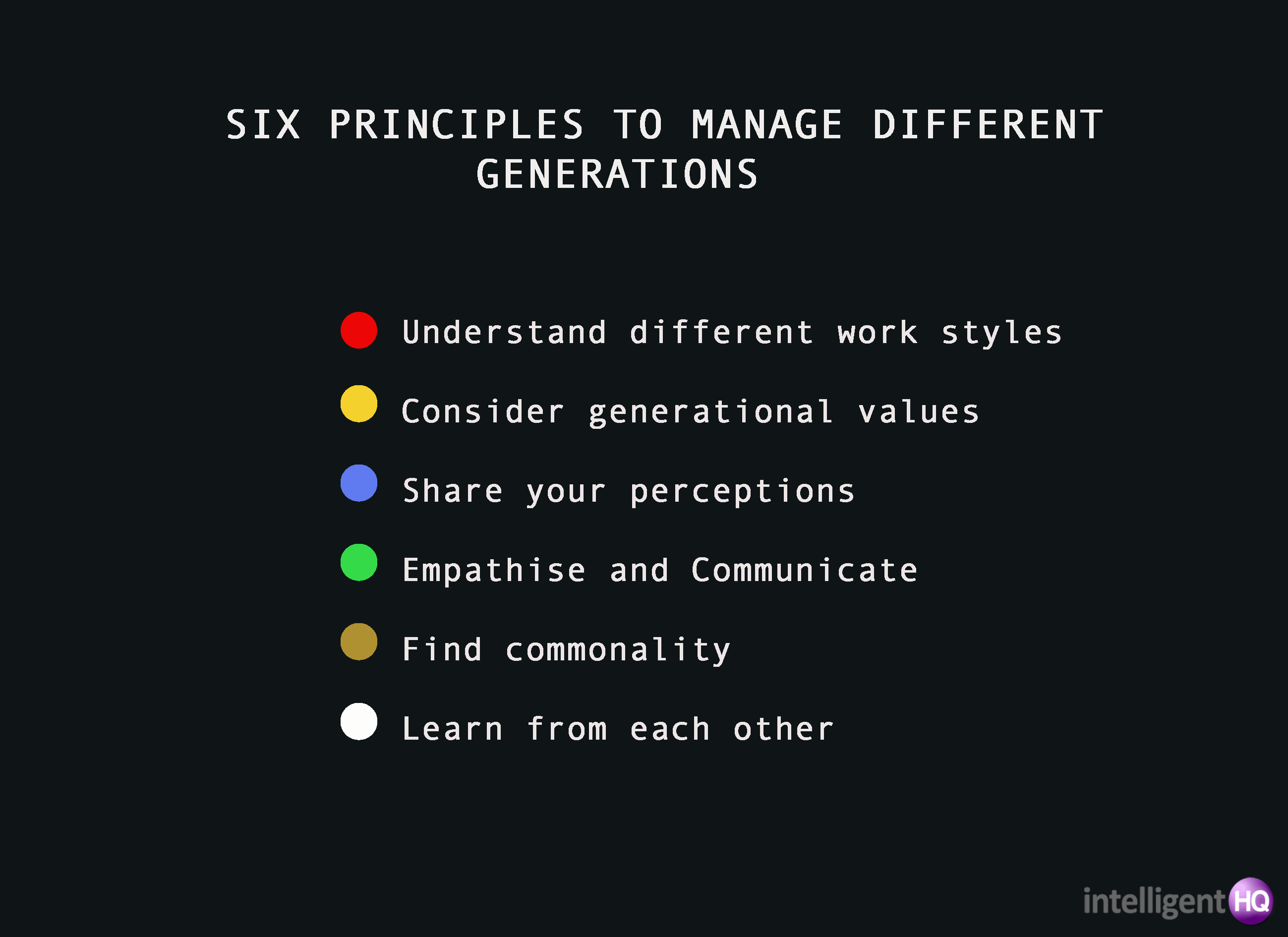 6 principles to manage different generations