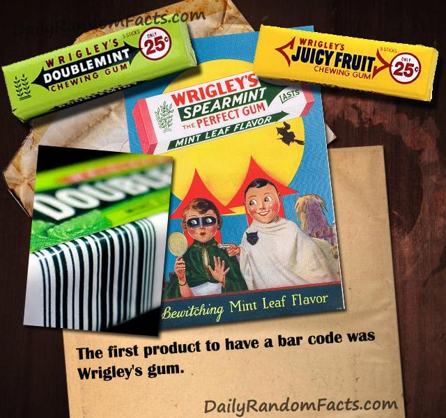 First product with a bar code was a wrigley's gum