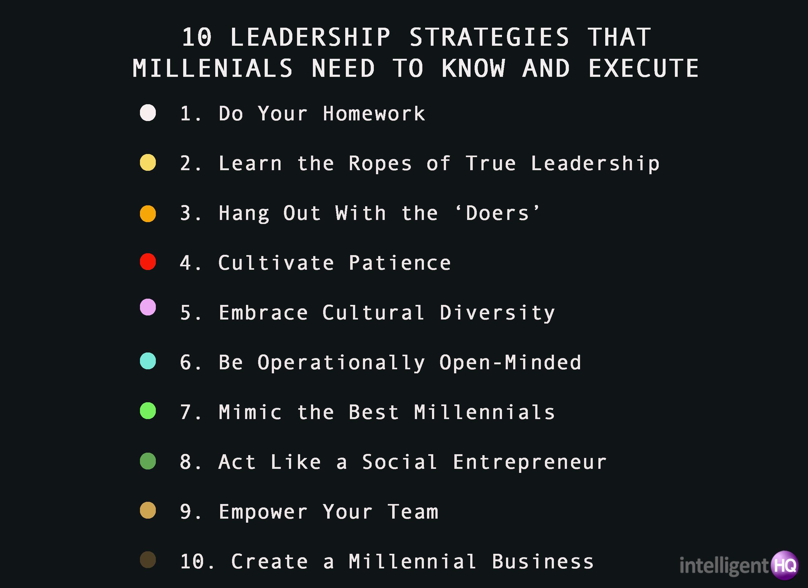 10 leadership strategies for millenials Intelligenthq