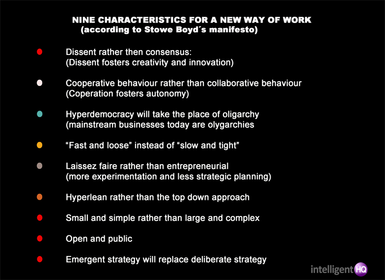 Nine characteristics for a new way of work Intelligenthq