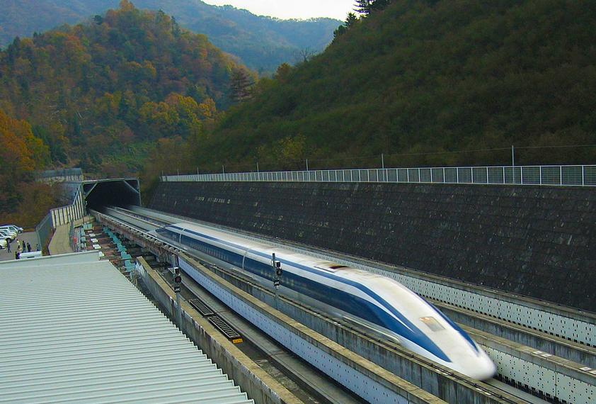 Magnetic Levitation Train. Image source: Wikipedia