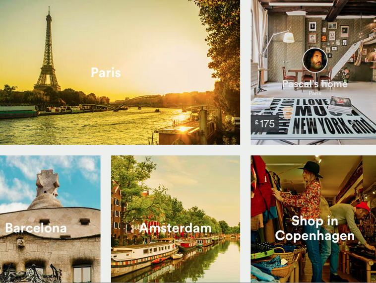 Screenshot of Airbnb website