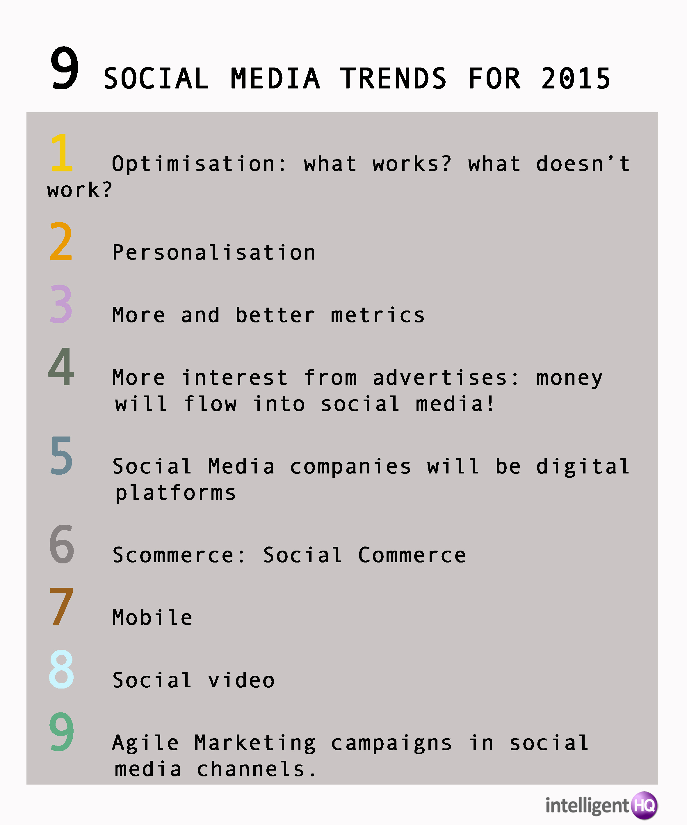 Nine Social Media Trends for 2015 Infographic by Maria Fonseca