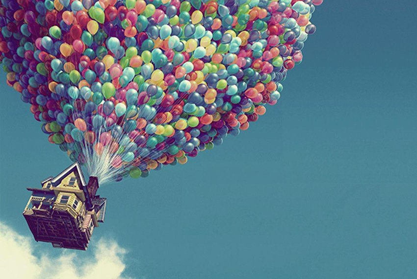 "Screenshot of film ""Up"" from Pixar Studios"
