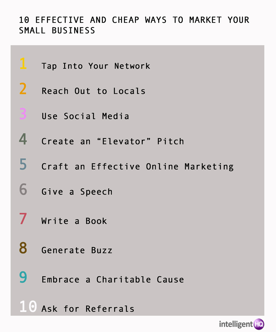 10 effective and cheap ways to marketyour small business according to Emad Rahim