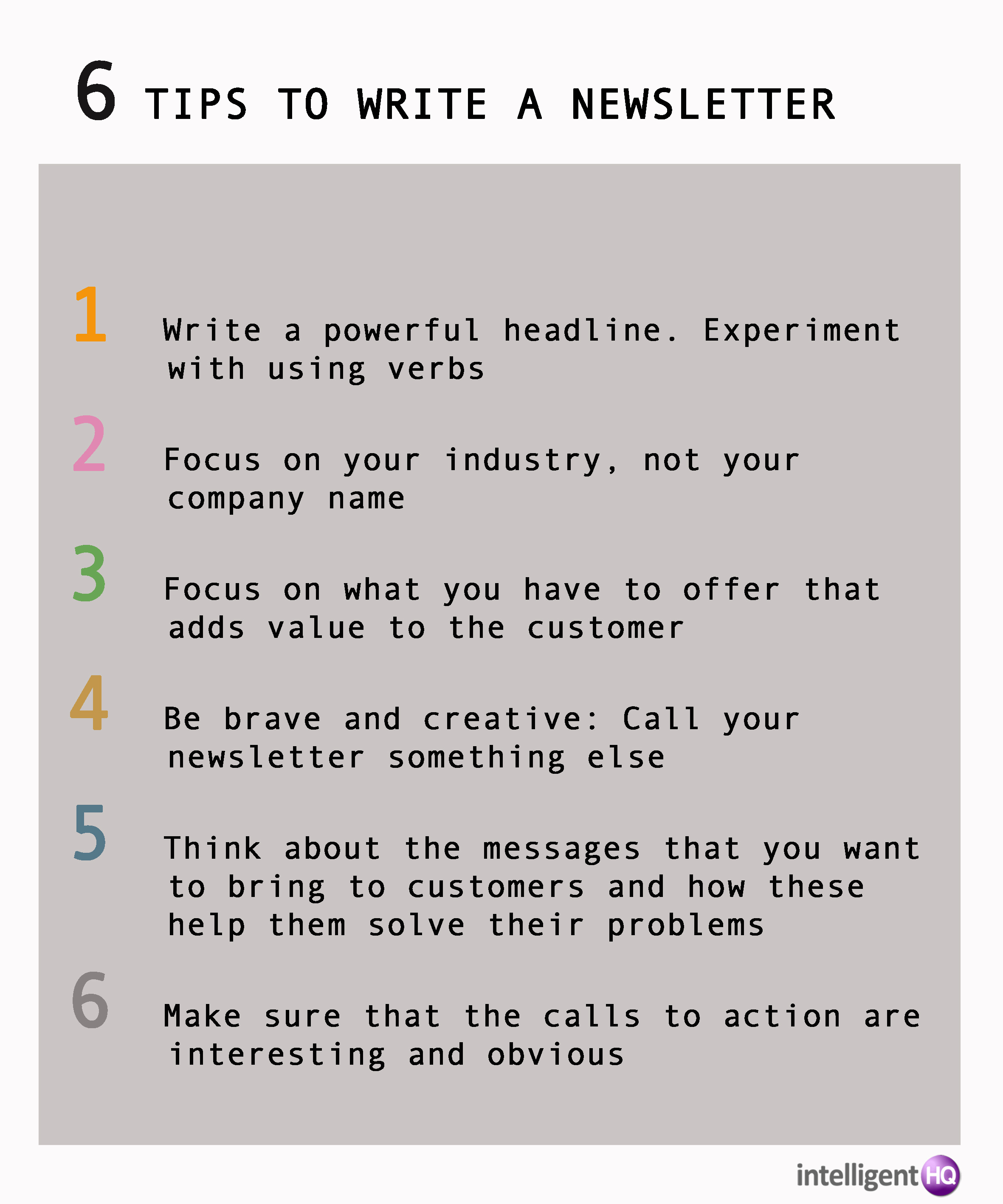 6 tips to write a newsletter