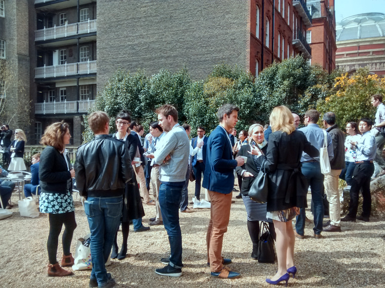 People networking at TEDx 2015 - London Business School