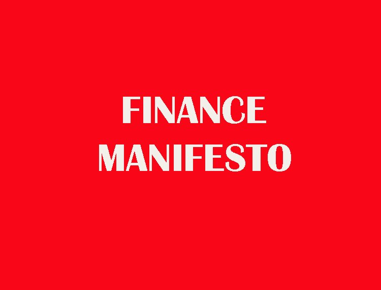 The UK Manifesto for Transforming Finance