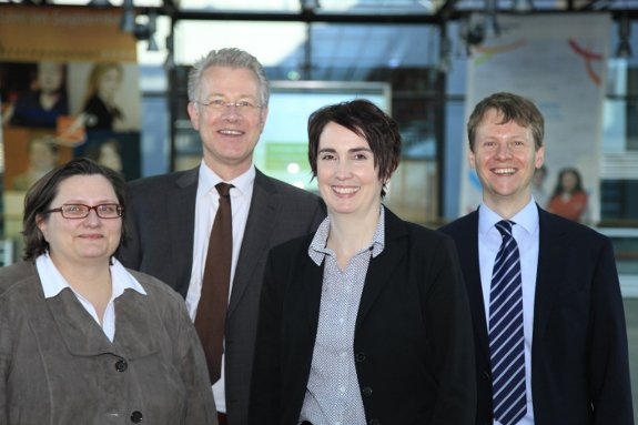 The BTI team: Sabine Donner, Hauke Hartmann, Sabine Steinkamp and Robert Schwarz (from the left to the right) © Bock & Gärtner