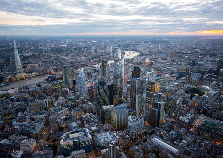 London Skyline by studio Hayes Davidson