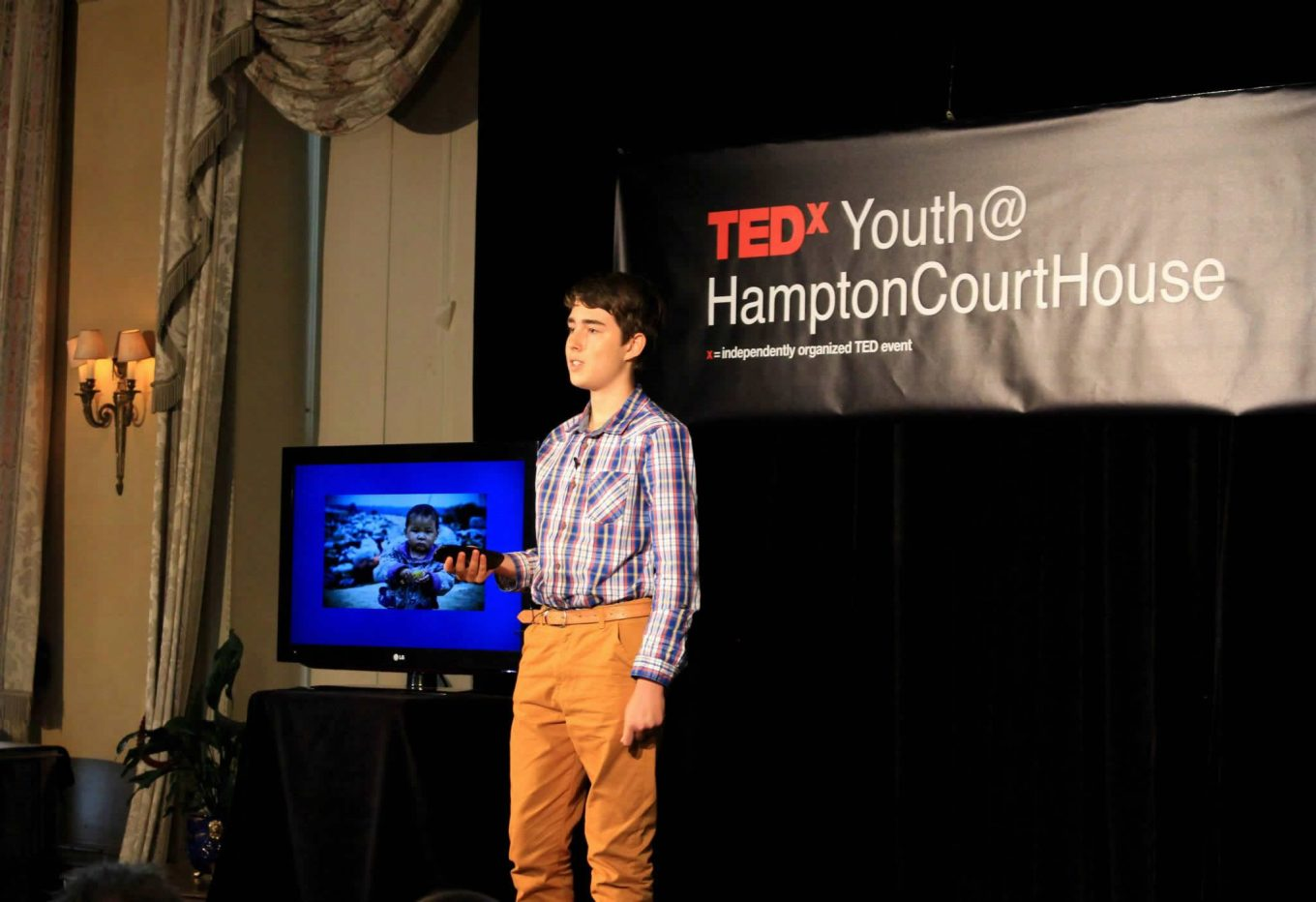 On stage at TEDx Hampton Court House