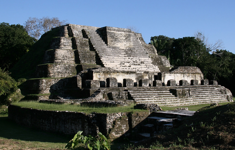 The Altun Ha archaeological site in Belize, a remnant of Mayan culture