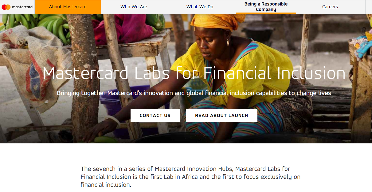 Master Card Labs for Financial Inclusion