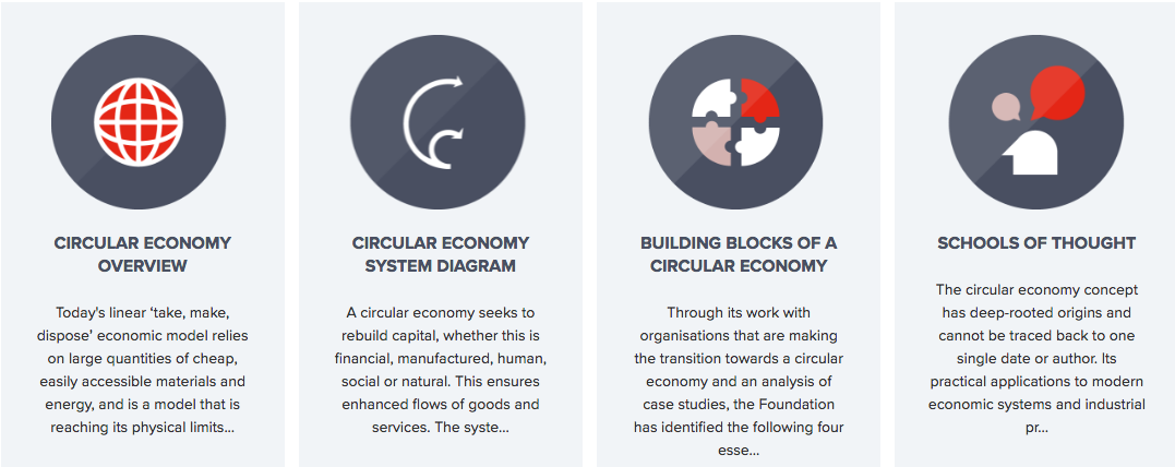 Circular Economy Principles and pillars by Ellen Macarthur Foundation