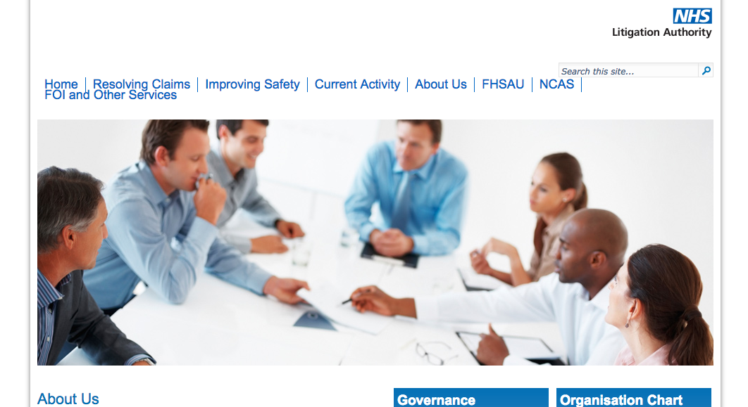 The NHS Litigation Authority Website