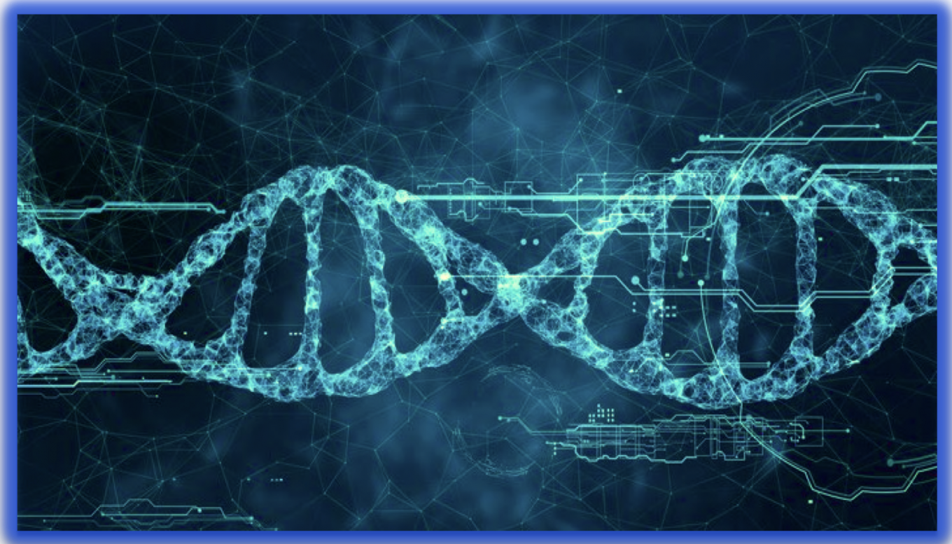 blockchain DNA and AI distributed world