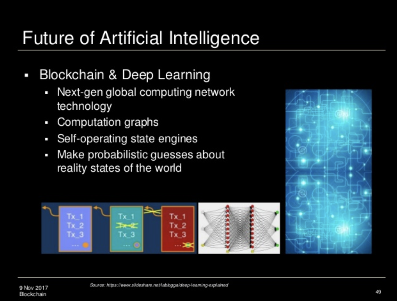 The future of artificial intelligence slide by Melanie Swan