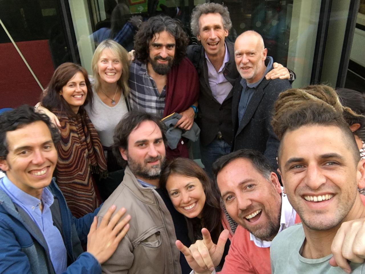 """Reinventing Organisations, An Experiential Workshop"" London, 2018. The team of facilitators"