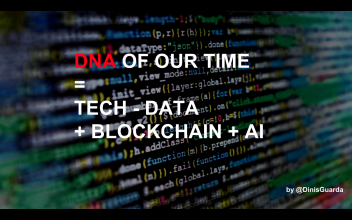 """DNA of our time."" Screenshot for Dinis Guarda slide share presentation"