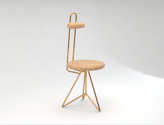 A sustainable cork task chair (UK, Portugal and Germany)
