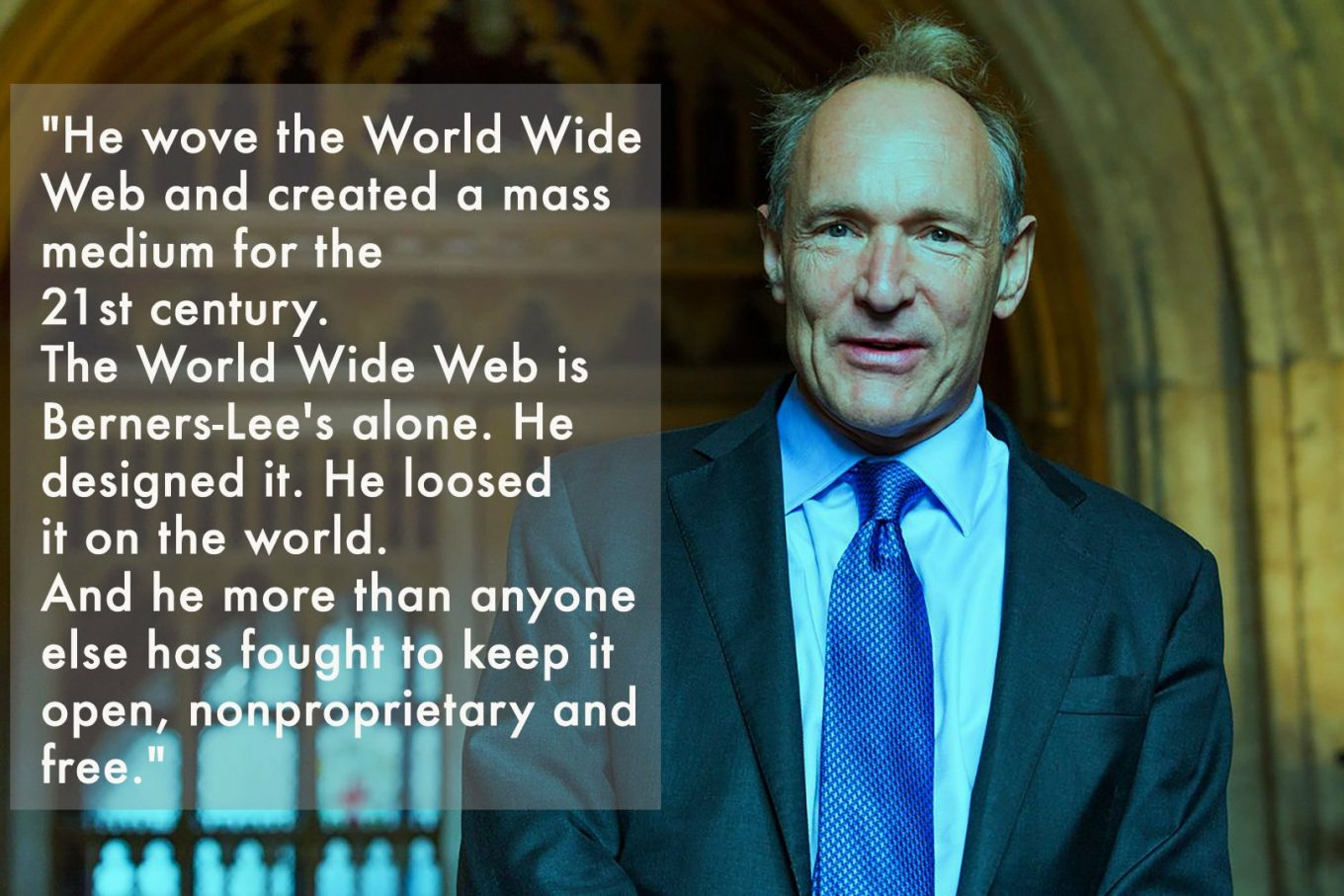 Tim Berners-Lee's entry in Time magazine's list of the 100 Most Important People of the 20th century, March 1999