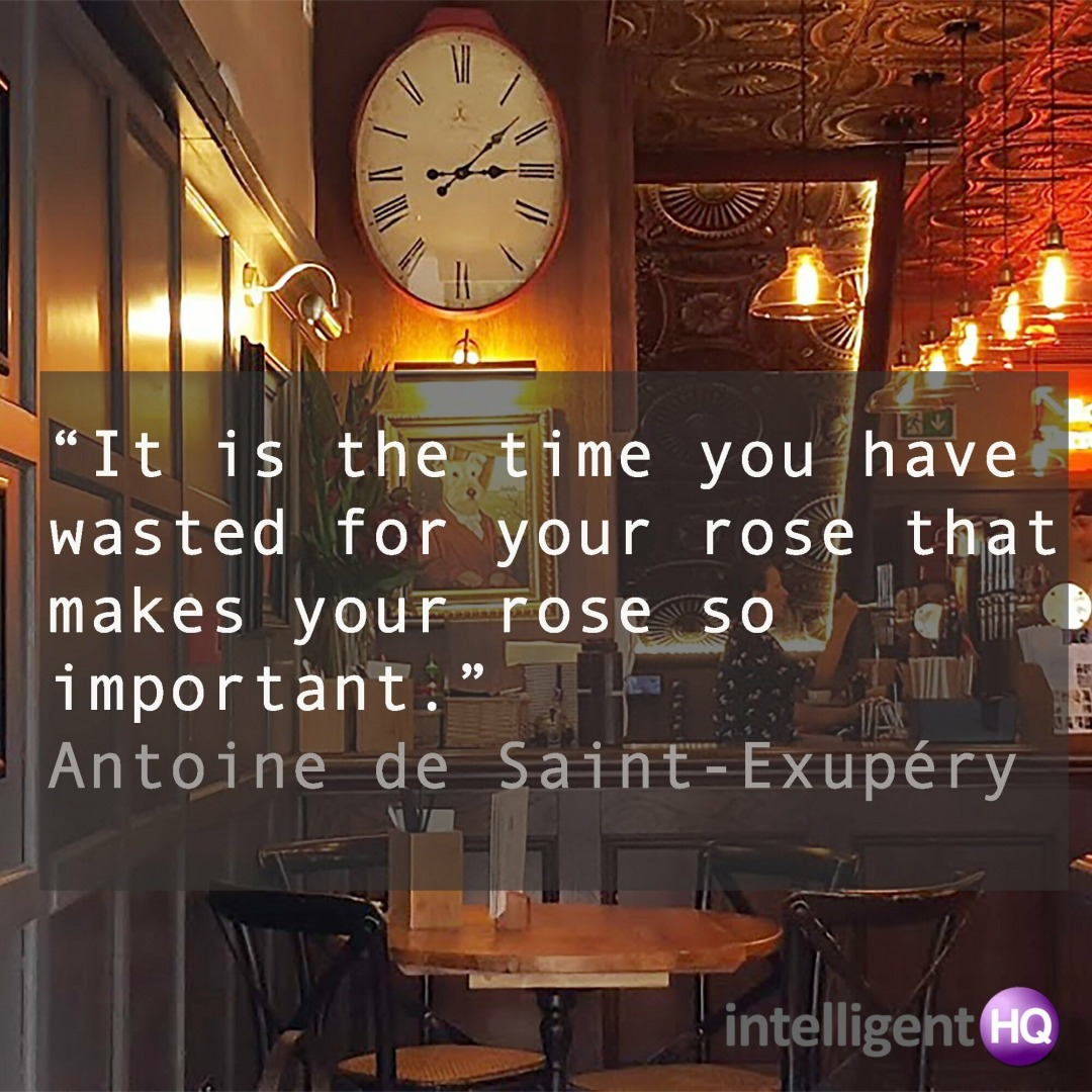 Quote by Saint Exupery. Image by Maria Fonseca.